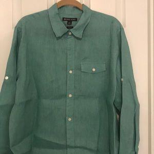 Michael Kors Linen button down. Tailored fit